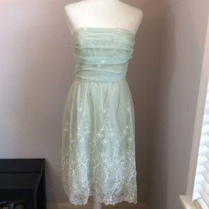 Shoshanna Vintage Mint Green 50s Style Lace Dress